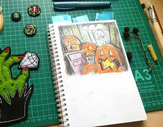 "#illustration #halloween #art #pumpkin Check out new work on my @Behance portfolio: ""Illustration for Halloween"" http://be.net/gallery/58221487/Illustration-for-Halloween"
