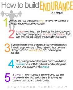 Five Ways To Build Endurance