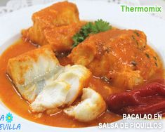 :D Bacalao en salsa de piquillos con Thermomix. Bacalao Semana Santa con thermomix,bacalao al vapor con thermomix recetas varoma thermomix, bacalao al varoma thermomix, recetas de dieta con thermomix, Seafood Recipes, Mexican Food Recipes, New Recipes, Cooking Recipes, Ethnic Recipes, Bacalao Guisado Recipe, Lidl, Food N, Food And Drink