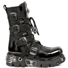 New Rock Stiefel Boots gothic schwarz Vintage M.1473-S43
