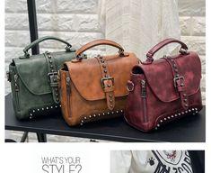 73f0121e1e Crossbody Bags For Women Messenger Bags Vintage Leather Bags Handbags Women  Famous Brand Rivet Small Shoulder Sac A522