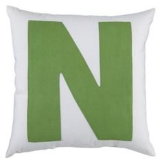ABC Throw Pillows (Letter N)  | LandOfNod - perfect price for this accent pillow.