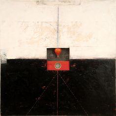 Graceann Warn, Balance, 2013  Encaustic, oil, objects on panel