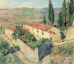 blastedheath:  Willard Leroy Metcalf (American, 1858-1925), Valley of the Mugnone, 1911. Oil on canvas.