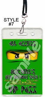 LEGO NINJAGO GREEN VIP PASSES WITH LANYARDS