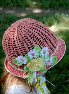 DIY Haak Pretty Panama Hat for Girls mooie zonnehoed