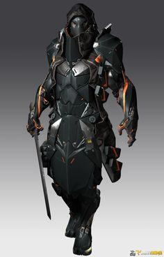 New science fiction cyberpunk tech ideas Arte Ninja, Armor Concept, Concept Art, Character Concept, Character Art, Character Aesthetic, Arte Assassins Creed, Art Cyberpunk, Character Design