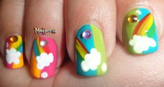 Rainbow nail art. By Madjennsy Nail Art