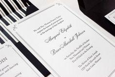 Elegant and Formal Black + White Letterpress Wedding Invitations by Anne Kostecki via Oh So Beautiful Paper (4)