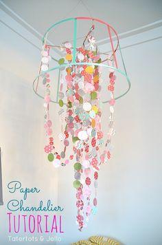 Paper Ribbon Chandelier