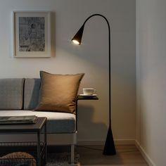 Explore the new DELAKTIG collection from IKEA, designed by Tom Dixon. Ikea Floor Lamp, Black Floor Lamp, Modern Floor Lamps, Black Lamps, Tom Dixon, My Living Room, Living Room Decor, Ikea Canada, Standard Lamps