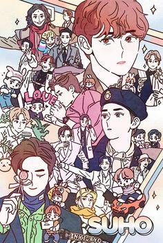 FanBook : Fan Art Social Platform I grouped the aforementioned questions in regards to the pencil drawing that I received … Chanyeol, Exo Anime, Pop Stickers, Exo Lockscreen, Exo Fan Art, Kpop Exo, Kpop Fanart, Kawaii Anime, Chibi