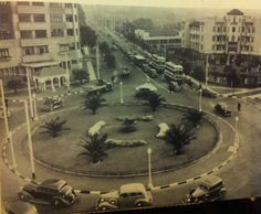 Clarendon Circle 1938 looking south down East Ave toward the Fort Johannesburg Skyline, Water Sources, Ol Days, Historical Pictures, Back In The Day, Live, South Africa, Landscape Photography, History