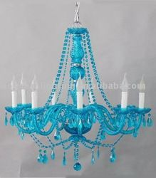 black chandelier with blue crystals - Bing images