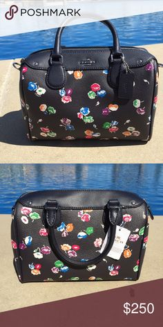 COACH Small Wildflower Mini Bennett NWT Cute little mini with flowers for spring! 9 inches across, 8 inches tall. 52 inch adjustable crossbody strap. Make an offer! NO TRADES! Coach Bags Mini Bags
