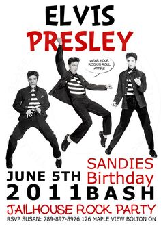 You Print Elvis Presley birthday party by TTLGphotoANDgraphics