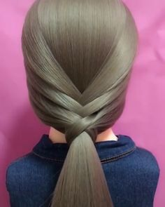 Elegant Hairstyle Idea for Long Hair – Frisuren Easy Hairstyles For Long Hair, Braids For Long Hair, Elegant Hairstyles, Cute Hairstyles, Braided Hairstyles, Hairstyles Videos, Easy Professional Hairstyles, Hairstyle Hacks, Braids Easy