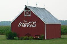 Coca-Cola Barn Advertising
