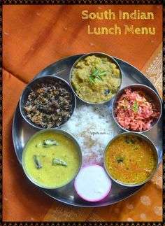 South Indian Lunch Menu 1 Upala