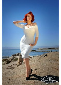 Pinup Couture: Monica White Dress