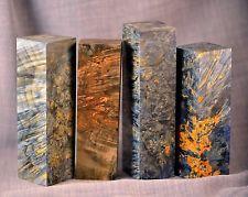 exotic resin wood blank knife handle scales pistol grips maple burl block