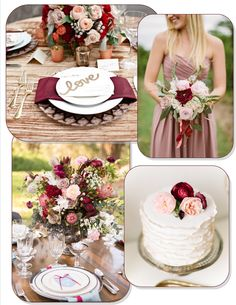 "A gorgeous ""pantone marsala"" inspiration board 