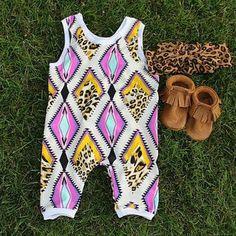 Baby girl romper, aztec romper,tribal baby, baby girl outfit,baby romper,baby girl jumpsuit,baby jumper,baby gift, toddler romper, boho baby