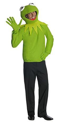 Original Lizenz Kermitkostüm Kostüm Kermit The Muppets Muppet Show grün Kopf Gr. STD