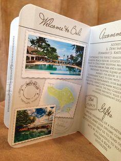 Passport Wedding Invitation DEPOSIT: Australia by TheStylishScribe