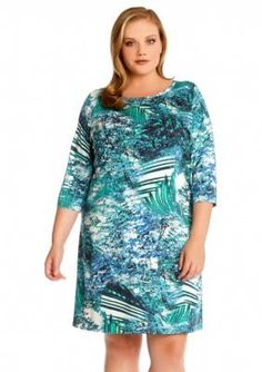 Karen Kane  Plus Size Pamila Printed Dress