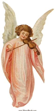 Free Vintage Christmas Angels Clip Art | Wings, Christmas angels ...
