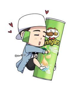 Hanbin et his Pringles. legit OTP