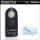 Photive ML-L3 Wireless Remote Control For Nikon D5100, D5000,D3000,D7000, D90, D80, D70S, D70, D60, D50, D40X, D40, P7000, P7100, Nikon 1 J1, Nikon 1 V1 Digital SLR Cameras (Replaces Nikon ML-L3) + MicroFiber Cleaning Cloth (Electronics)