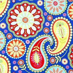 blue paisley fabric - Google Search