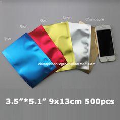 "3.5""*5.1""_9x13CM Ping pocket 500pcs/lot aluminium foil bag heat seal packing food storage bag / foil vacuum plastic pouch"