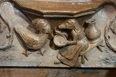 Misericord, Ty Ddewi - St David's Cathedral misericords by Paulo Dykes, via Flickr St Davids Cathedral, Cathedral Church, Mercy Seat, The Monks, Green Man, Christian Art, Woodcarving, Mythical Creatures, Folklore