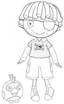 Lalaloopsy boy coloring page
