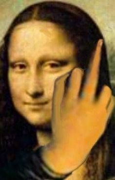 Oh, Mona! We hear ya, girl! Mona Lisa Secrets, Cabras Animal, Funny Memes Images, Funny Pictures, Mona Friends, La Madone, Mona Lisa Parody, Mona Lisa Smile, Renaissance Artists
