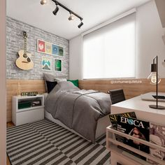 Your home doesnt deserve to be as boring as your landlord. Home Office Bedroom, Boys Bedroom Decor, Living Room Decor, Small Bedroom Hacks, Small Room Bedroom, Teen Boy Rooms, Teenage Room, Cool Boys Room, Boys Room Design