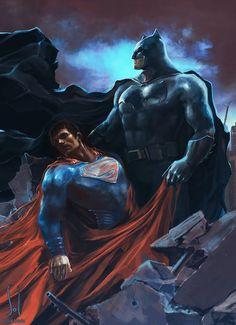 Batman v Superman by Sol Devia....llll