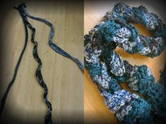 I took three skinny crochet scarves and braided them together to create a true statement item