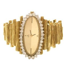 Diamond and Gold watch by Ebel c.1960s |Pinned from PinTo for iPad|