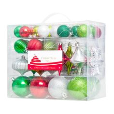 64 Piece Jingle Theme Ornament Pack $20 - I like these colours