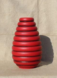 Carstens-Keramik-0106-30cm-Vase-60er-70er-fine-vintage-ceramics-Lava-Bargain