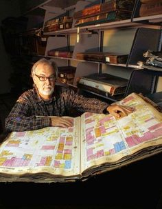 Glen Creason, map librarian at the downtown Central Library, helps preserve a street-by-street history of Los Angeles.