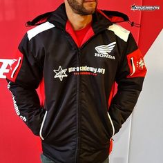 New Honda jackets just arrived, keeps you warm at this cold weather! Motocross Shop, New Honda, Cold Weather, Motorcycle Jacket, Adidas Jacket, Racing, Athletic, Warm, Jackets