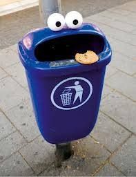 Awesome! Cookie monster recycling bin.  Now that would work!