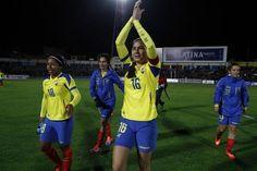 The Ecuadorian central defender Ligia Moreira plays for FC Rocafuerte national champion. Photos: Micaela Ayala/Andes