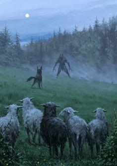 The Werewolf Legends of Romania Werewolves and vampires; mythological creatures The Werewolf Legends of Romania Dark Fantasy Art, Fantasy Artwork, Dark Art, Werewolf Art, Werewolf Mythology, Vampire Mythology, Wow Art, Creepy Art, Scary