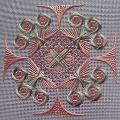 Arabesque Rose by West End Embroidery Окончание Hand Work Embroidery, Creative Embroidery, Embroidery Monogram, Hand Embroidery Patterns, Ribbon Embroidery, Smocking Patterns, Needlepoint Designs, Needlepoint Stitches, Needlework